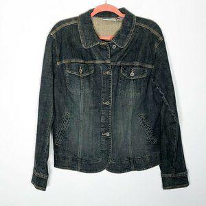 Chico's Denim Jacket Womens 2 = 12 Blue